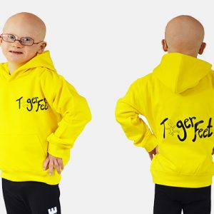 Tiger Feet Kids Hoodie - Yellow with Black Vinyl
