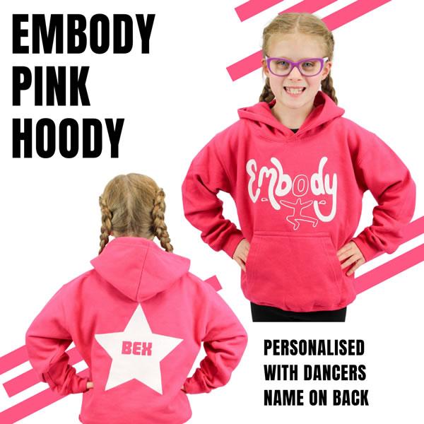 Embody Dance Hoodie - Pink with White Vinyl